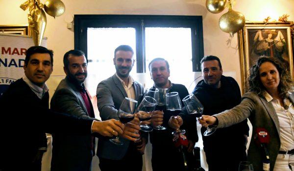 Brindis navideño de Radio Marca Granada con los entrenadores